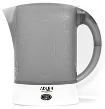 Электрочайник чайник с чашками и ложечками набор в дорогу Adler AD 1268