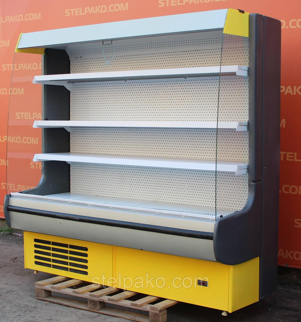Холодильный регал «Росс Modena ВПХ-Г» 2.0 м. (Украина), LED - подсветка, Б/у