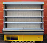 Холодильный регал «Росс Modena ВПХ-Г» 2.0 м. (Украина), LED - подсветка, Б/у, фото 2