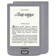 "Электронная книга PocketBook 616 Matte Silver (PB616-S-CIS); 6"" (1024х758) E-Ink Carta, с подсветкой, ОЗУ 256 МБ, 8 ГБ встроенная + microSD до 32 ГБ,"