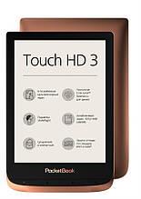 "Электронная книга PocketBook 632 Touch HD 3 Copper (PB632-K-CIS); 6"" (1448x1072) E Ink Carta, 300 dpi, сенсорный с подсветкой, ОЗУ 512 МБ, 16 ГБ"