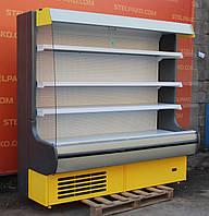 Холодильная горка «Росс Modena» 2.0 м. (Украина), прозрачные боковые стекла, Б/у, фото 1