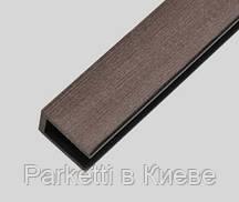 Уголок Gamrat композитный брашированный Темно-коричневый для ограждений 30 х 40 х 2000 мм