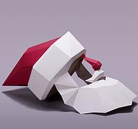Маска Дед Мороз papercraft, фото 1