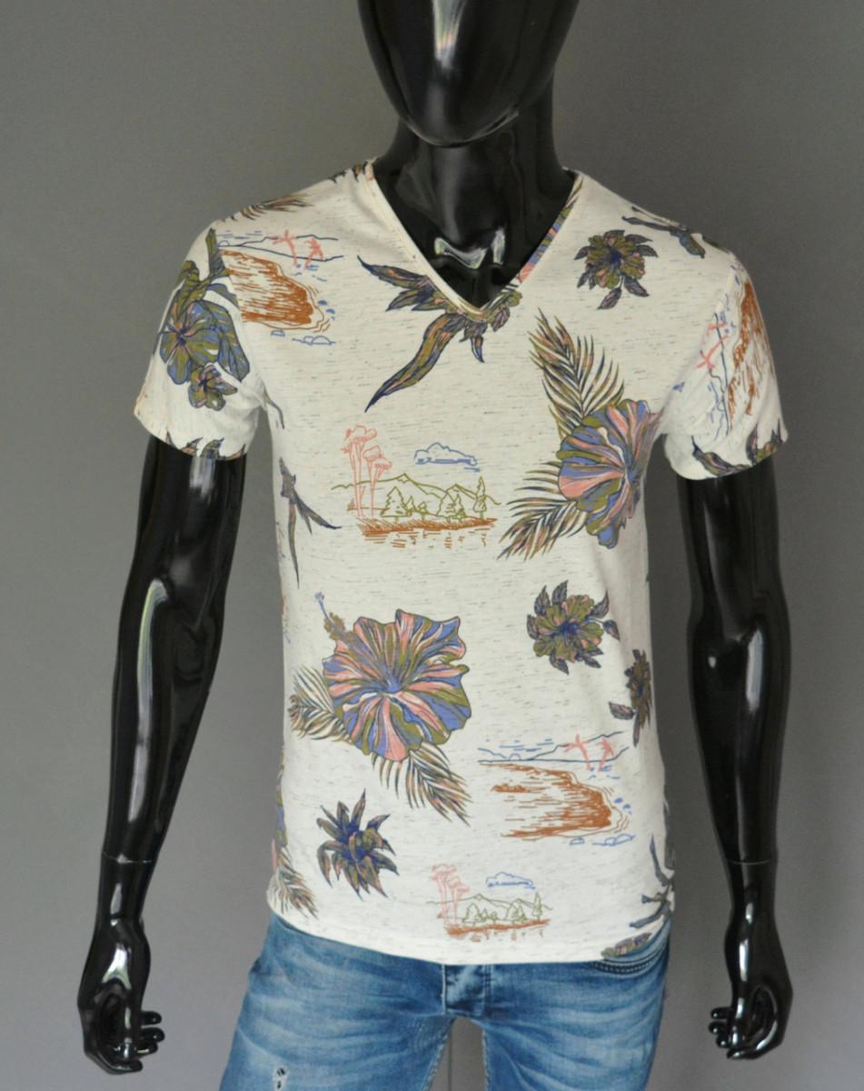Мужская футболка бежевая Турция 2431