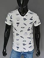 Мужская футболка белая акулы Турция 2418
