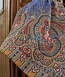 Берега желаний 1623-2, павлопосадский платок шерстяной  с оверлоком, фото 3