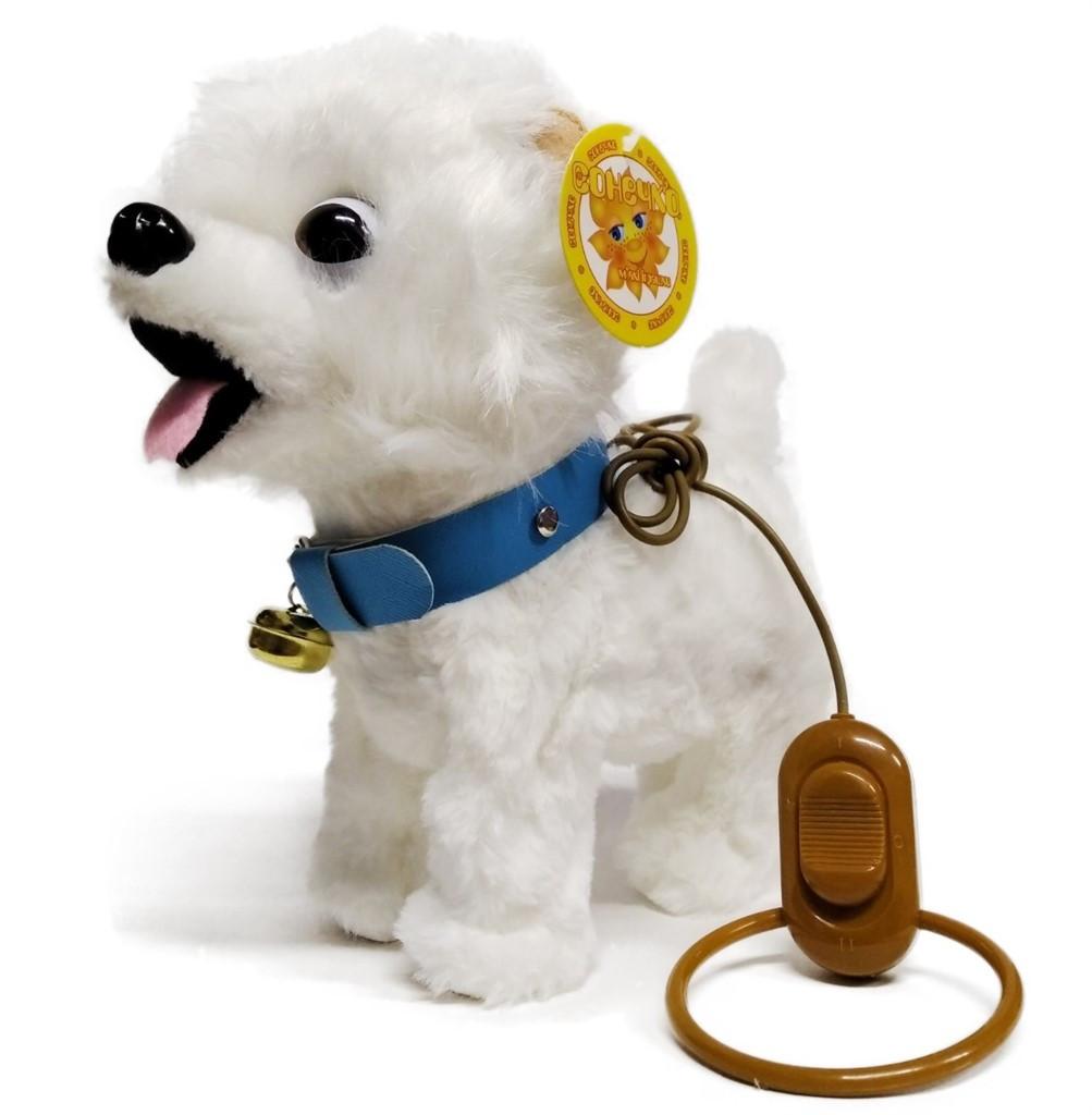 Собачка на пульте 4770 белая болонка