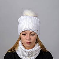 Вязанный женский комплект Лара Nord Белый wklara10, КОД: 388076