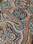 Фергана 1856-16, павлопосадский платок из вискозы с подрубкой, фото 4