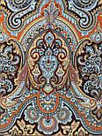 Фергана 1856-16, павлопосадский платок из вискозы с подрубкой, фото 6