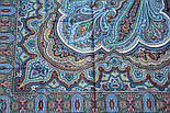 Східне подорож 1566-14, павлопосадский хустку (шаль) бавовняний (саржа) з подрубкой, фото 7