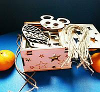 Набор деревянных игрушек на елку №2 в Коробке Светляччок (НИ 0002(К))