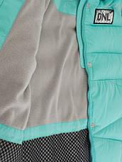 Детский зимний пуховик стеганный, натуральный мех, для девочки от Donilo 5301   на рост 122-140р., фото 3