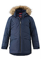 Куртка-пуховик Reima темно синяя для мальчика