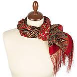 Медея 1473-55, павлопосадский шарф шерстяной  с шелковой бахромой, фото 2
