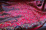 Медея 1473-55, павлопосадский шарф шерстяной  с шелковой бахромой, фото 4
