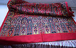 Медея 1473-55, павлопосадский шарф шерстяной  с шелковой бахромой, фото 5
