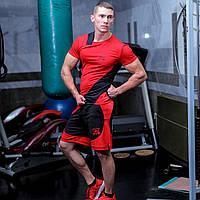 Шорты спортивные мужские fitU Shock red