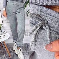 Спортивные женские брюки тёплые на флисе