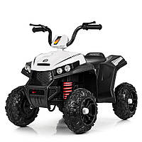 Детский электромобиль Квадроцикл M 4131 E-1, резиновые EVA колёса, амортизаторы, дитячий квадроцикл, белый