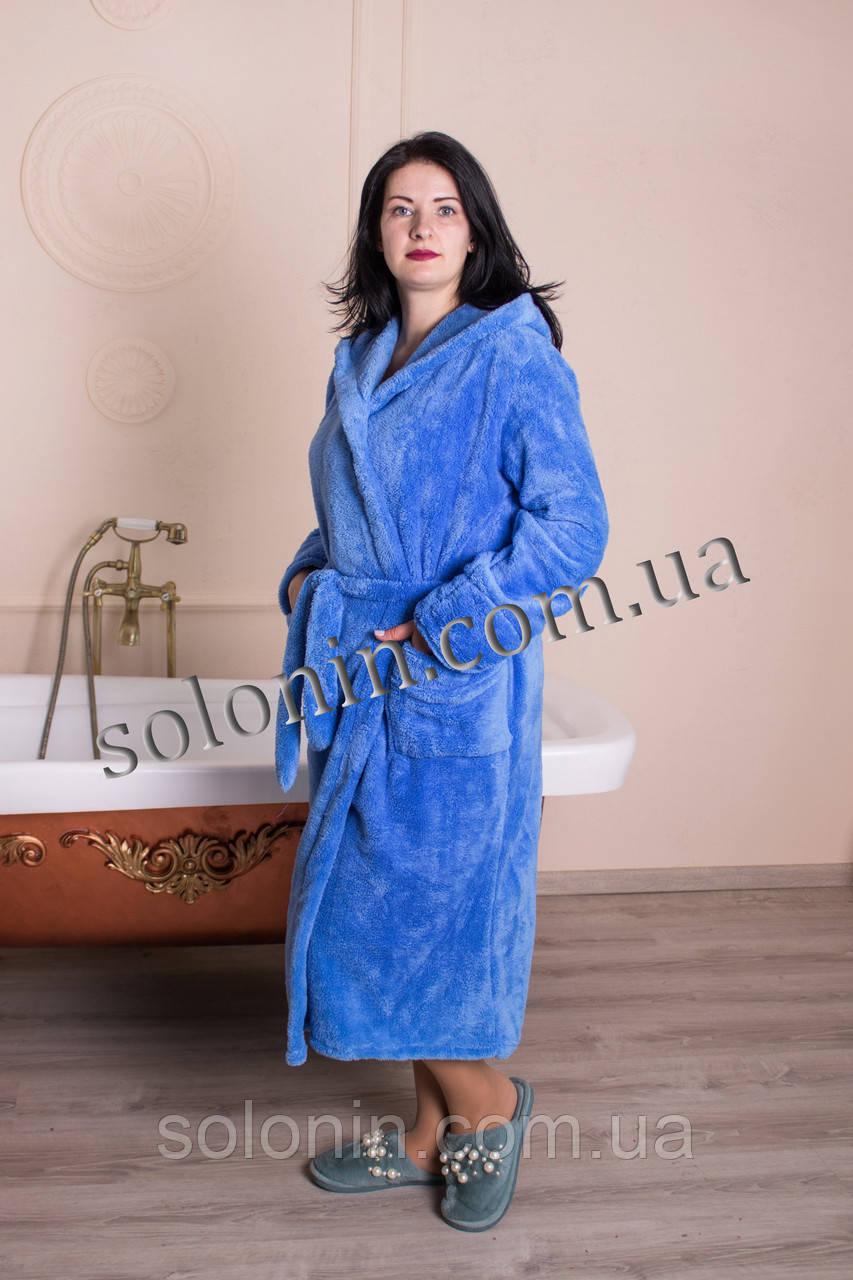 Женский мягкий махровый халат.