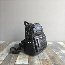 Рюкзак с тиснение под рептилию с шипами / натуральная кожа арт. кт-2842 Черный