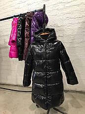 Зимнее пальто из лаковой плащевки  на девочку Микель нью вери (Nui Very), фото 3