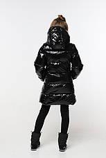 Зимнее пальто из лаковой плащевки  на девочку Микель нью вери (Nui Very), фото 2