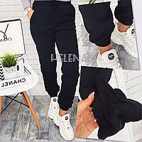 Спортивные женские брюки тёплые на флисе! Цвет: черный