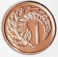 Монета Новой Зеландии 1 цент 1983 г. Пруф из набора