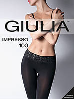Колготки Giulia IMPRESSO 100 den с кружевным поясом на силиконовой основе