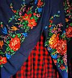 10876-14 (Пионы), павлопосадский платок из вискозы с подрубкой, фото 4