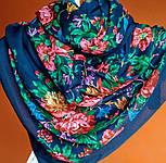 10876-14 (Пионы), павлопосадский платок из вискозы с подрубкой, фото 6