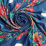 10876-14 (Пионы), павлопосадский платок из вискозы с подрубкой, фото 8