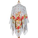 10877-1 (Свадебные ленты), павлопосадский платок из вискозы с подрубкой, фото 2