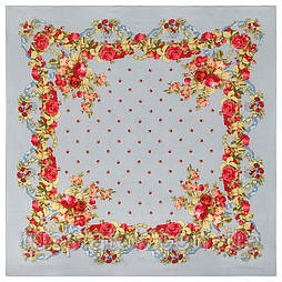 10877-1 (Весільні стрічки), павлопосадский хустку з віскози з подрубкой