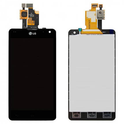 Дисплей (экран) для LG LS970 Optimus G с сенсором (тачскрином) черный, фото 2