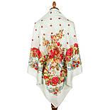 10877-11 (Свадебные ленты), павлопосадский платок из вискозы с подрубкой, фото 2