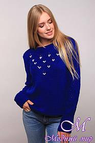 Женский свитер с жемчугом (ун. 44-48) арт. К-13-126