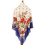 10877-13 (Свадебные ленты), павлопосадский платок из вискозы с подрубкой, фото 2