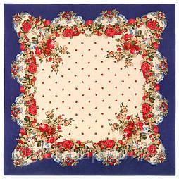 10877-13 (Весільні стрічки), павлопосадский хустку з віскози з подрубкой