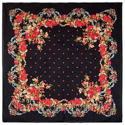 10877-18 (Весільні стрічки), павлопосадский хустку з віскози з подрубкой