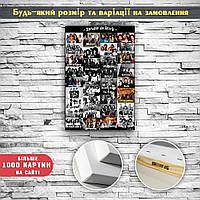 Картина постер на холсте Рок исполнители Rock 60х40