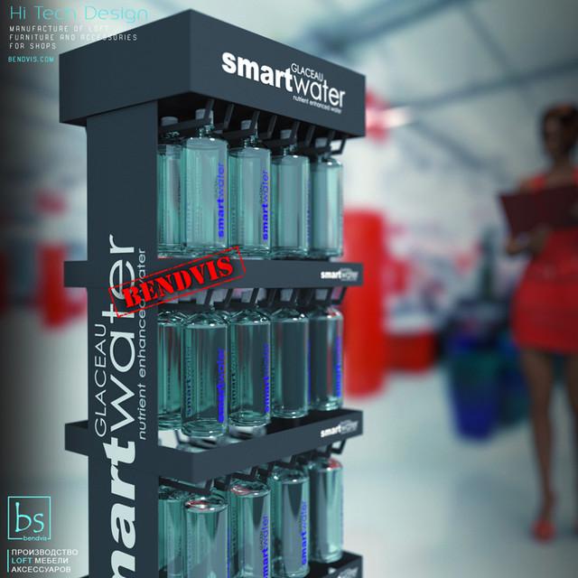 Напольные торговые стойки для воды Smart Water от Бендвис