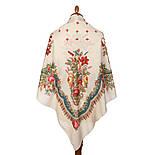 10878-2 (Вечер в парке), павлопосадский платок из вискозы с подрубкой, фото 2