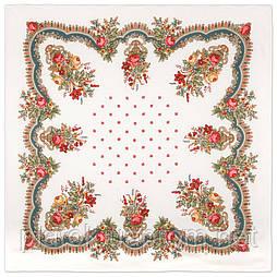 10878-0 (Вечер в парке), павлопосадский платок из вискозы с подрубкой Стандартный сорт