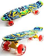 "Penny Board ""Fish Skateboards"" Camel.(Original), фото 1"