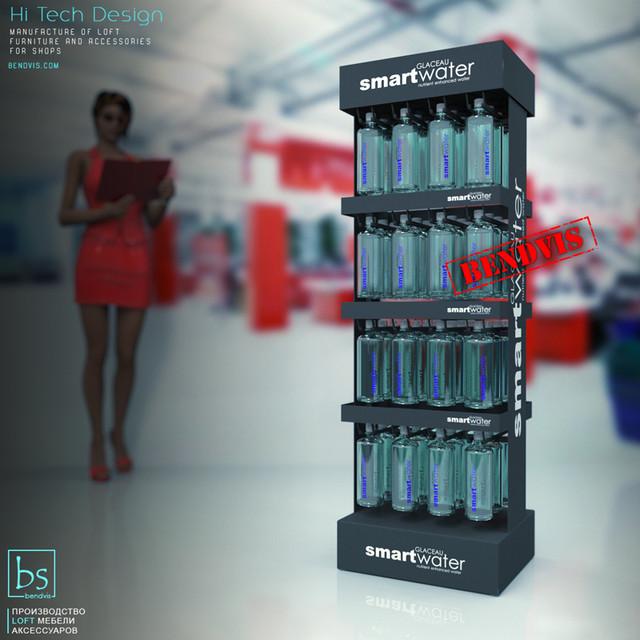 Напольные торговые стойки Smart Water