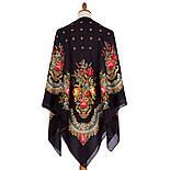 10878-18 (Вечер в парке), павлопосадский платок из вискозы с подрубкой, фото 2